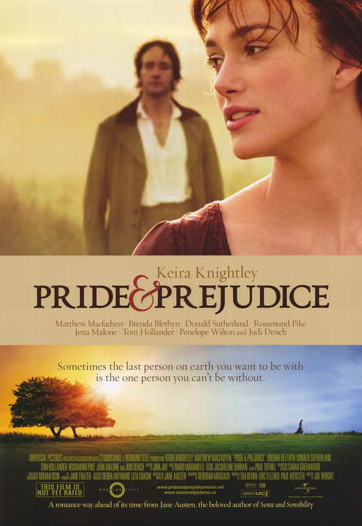 Image result for pride and prejudice movie cover