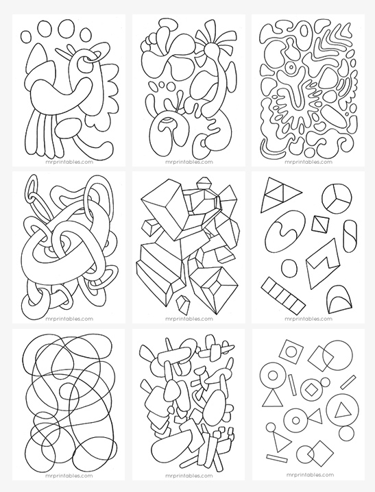 free printable abstract coloring pages # 4