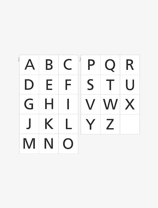 Printable Alphabet Cards Mr Printables