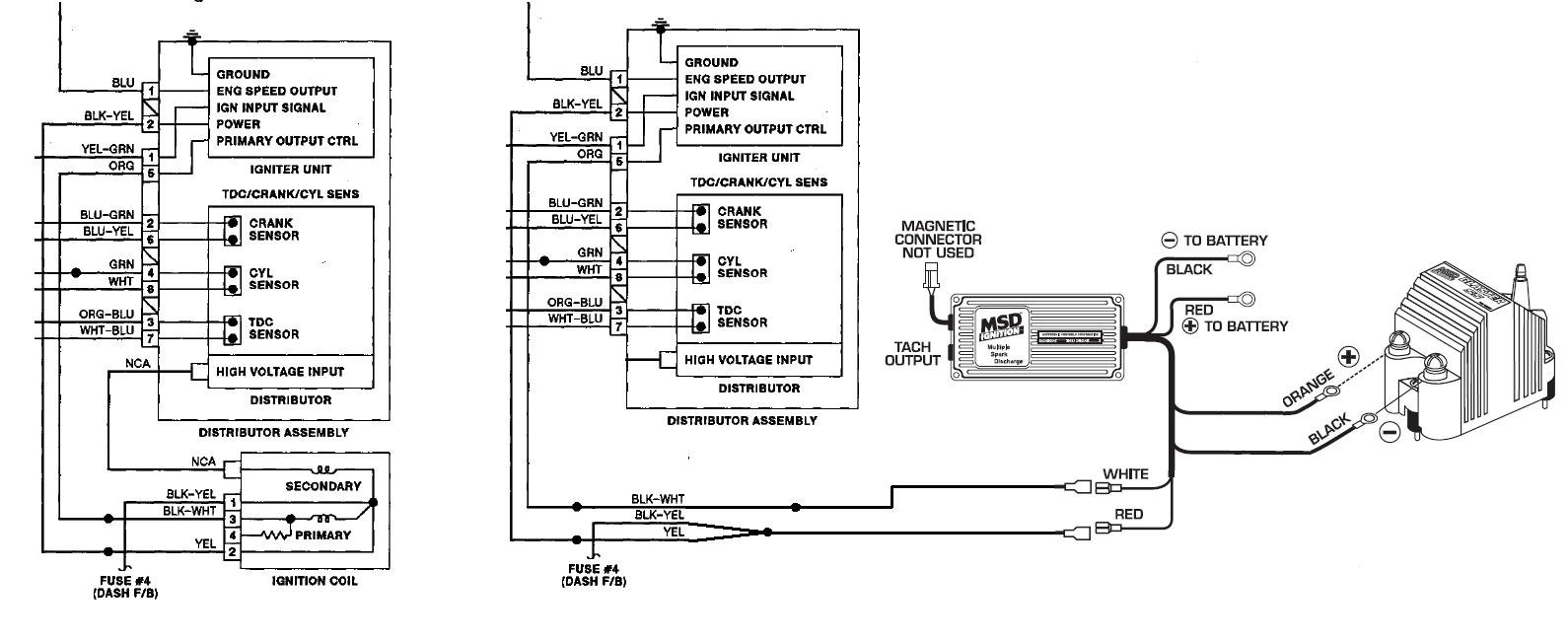Msd Coil Wiring Diagram : Msd al wiring diagram  images