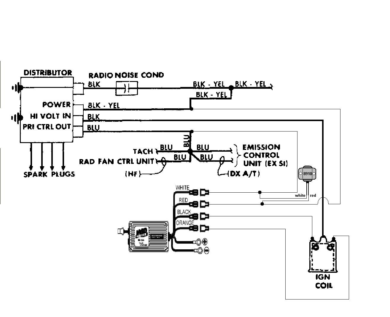Honda Crx Ignition System Schematic Trusted Schematics Diagram 1993 Prelude Wiring Electrical 1990 Detailed External Coil