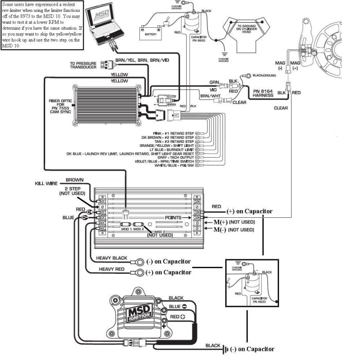 msd 6al wiring diagram chevy wiring diagram msd 6al ignition module w rev control installation instructions