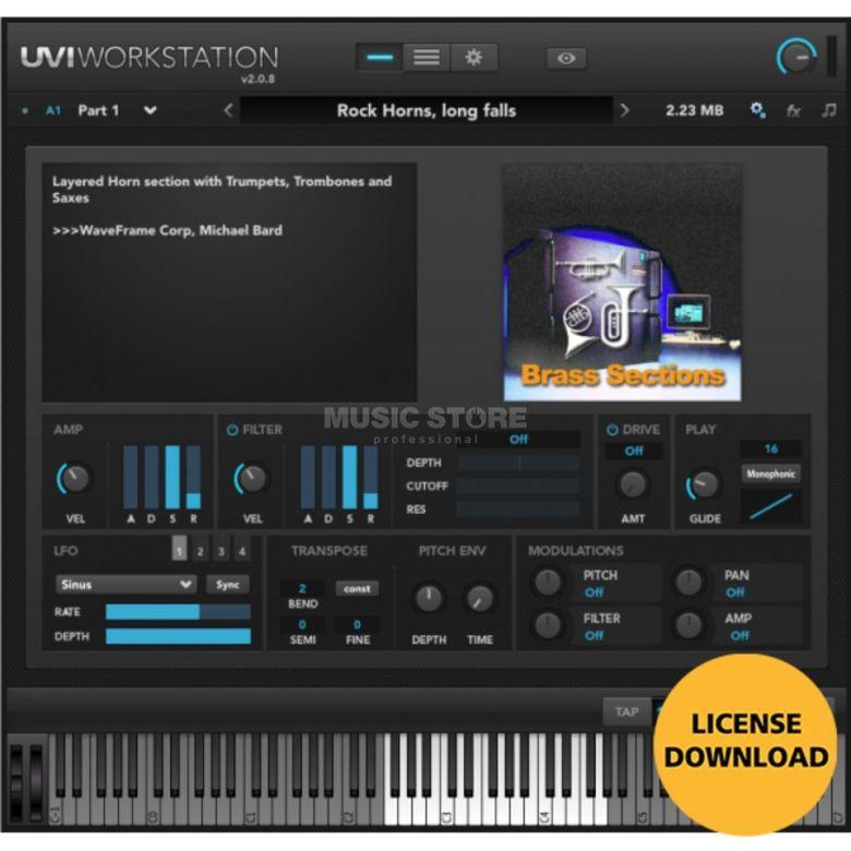 uvi waveframe sound coll. code software instrument /download