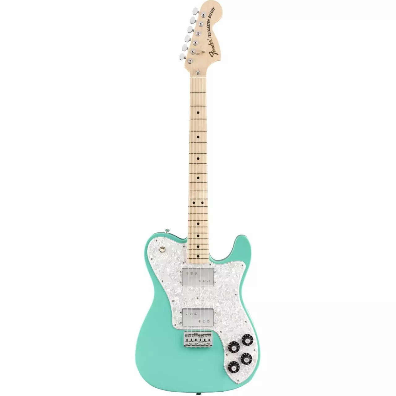 fender made in japan 2020 limited edition traditional 70s tele deluxe mn sea foam green