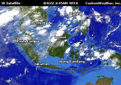 Southeast Asia Weather Map.Southeast Asia Weather Maps By Customweather Panahon Ngayon