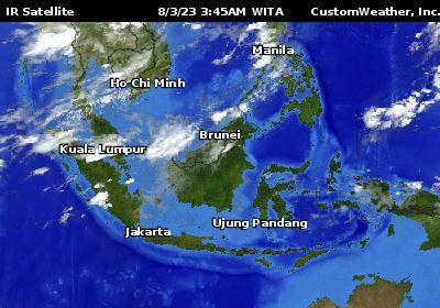 Southeast Asia Weather Panahon Ngayon - Asia satellite map