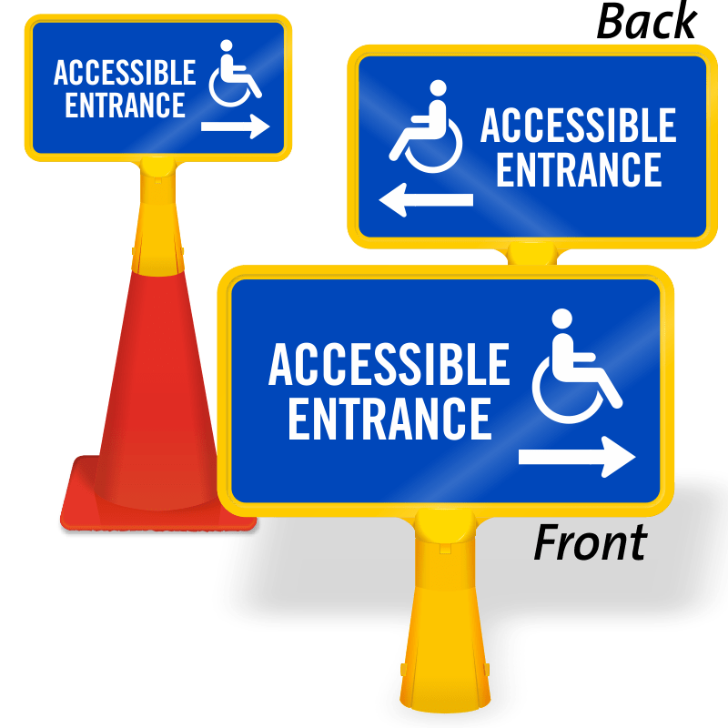 handicap wheelchair access signs