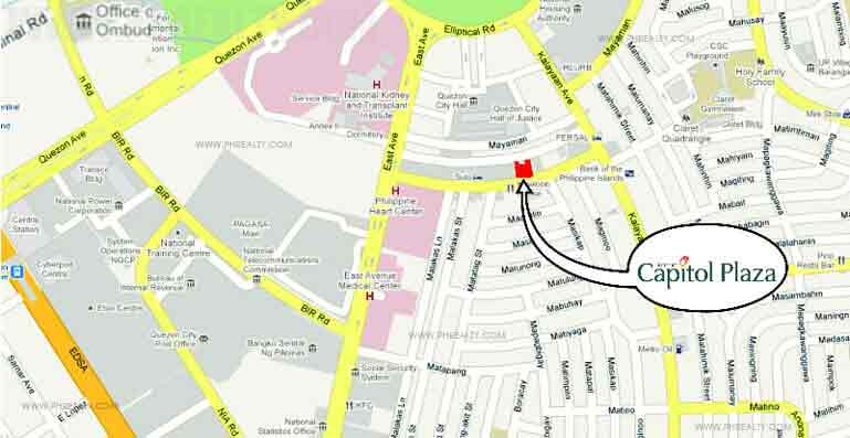 Map Quezon Avenue St Chapel Peter