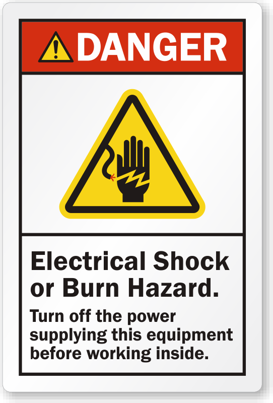 Electrical Panel Yellow Label