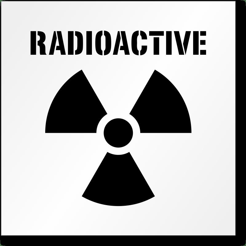 Radioactive Waste Symbol On Fire