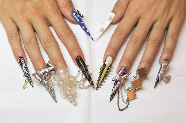 Celina Ryden's original Lady Gaga-inspired nail design.