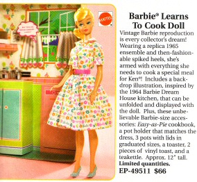 Barbie Learns to Cook Doll