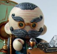 Mr. H.G. Wells by Doktor A, a vinyl figure