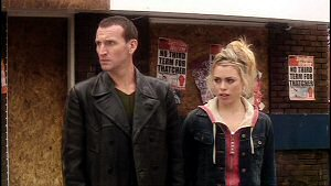 Christopher Eccleston and Billie Piper from Doctor Who Series 1 (2005)