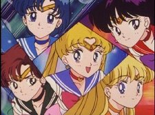 The Sailor Scouts from Sailor Moon Season 2 Uncut