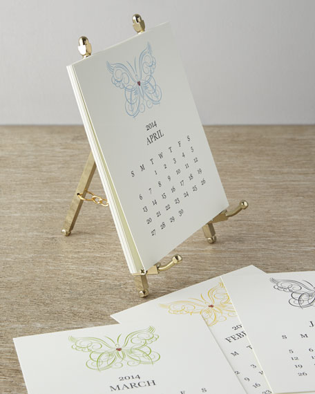 Paper Calendar With Metal Stand