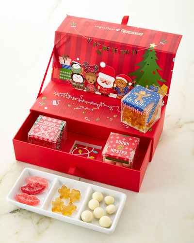 Sugarfina Tipsy Elves 3-Piece Bento Box