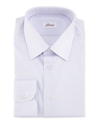 Brioni Textured Dress Shirt, Lavender
