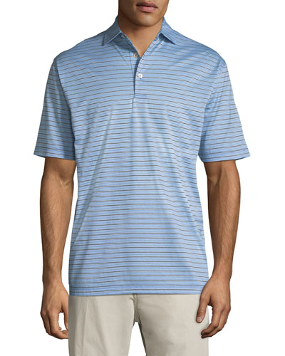Peter Millar Grandview Striped Nanoluxe Polo Shirt