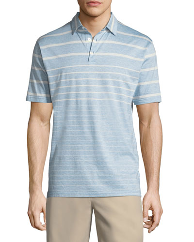 Peter Millar Summer Swells Striped Polo Shirt