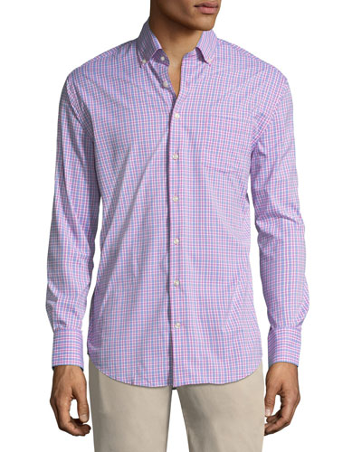 Peter Millar Barber Performance Check Sport Shirt