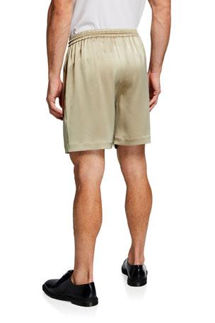 Nanushka Men's Doxxi Satin Drawstring Shorts