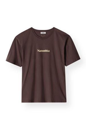 Nanushka Reece Organic Cotton Logo T-Shirt