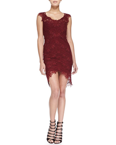 Free People  Sleeveless Lace Slip W/ High-Low Hem