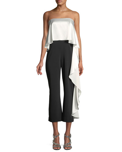 Mestiza New York Jacqueline Stretch Cropped Ruffle Jumpsuit