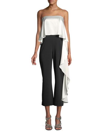 Mestiza New York Jacqueline Stretch Cropped Ruffle Jumpsuit