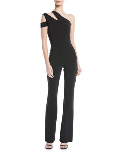 Chiara Boni La Petite Robe Lety Asymmetric One-Shoulder Split jumpsuit