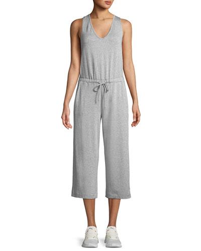 Beyond Yoga Farrah Scoop-Neck Sleeveless Wide-Leg Cropped Jumpsuit