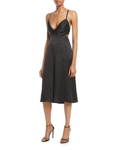 Fame and Partners The Bronwyn Cropped Jumpsuit in Silk