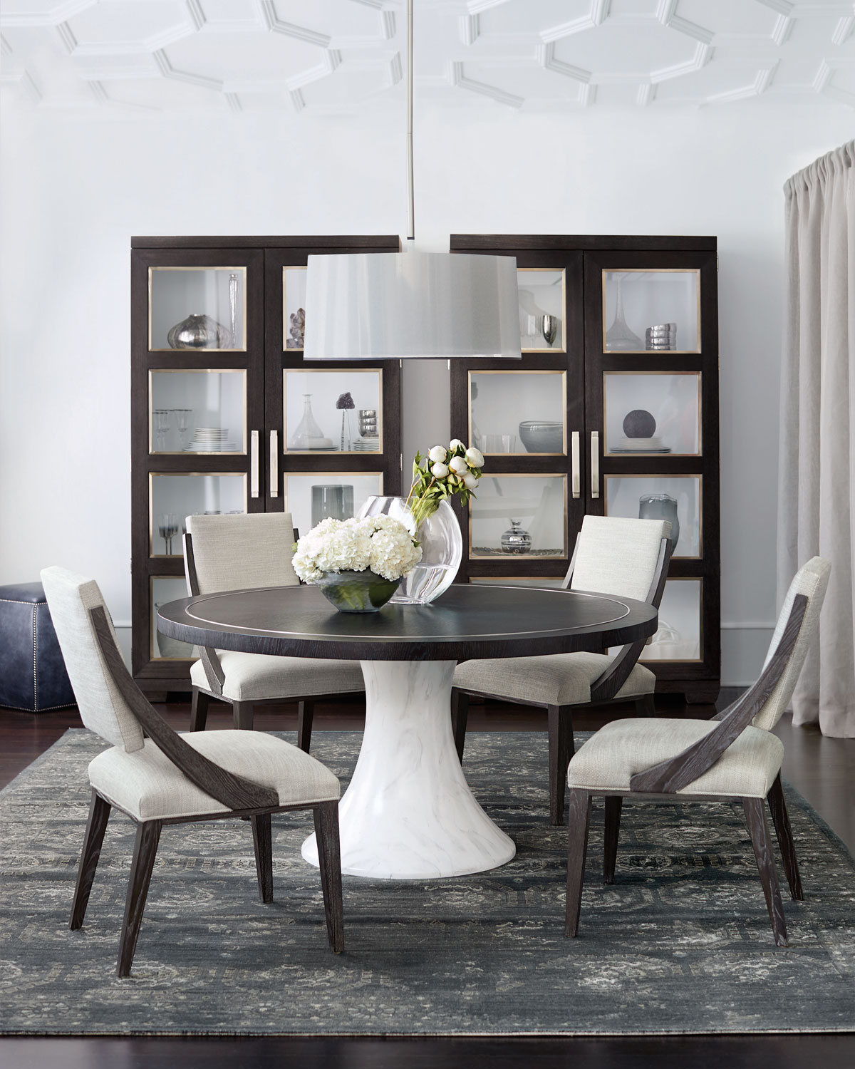 bernhardt decorage round hand painted marble finish dining on hand painted dining room tables id=71274