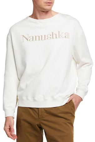 Nanushka Men's Remy Fleece Logo Crew Sweatshirt