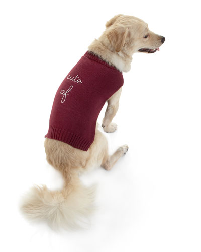 "Max-Bone ""Cute AF"" Dog Sweater"