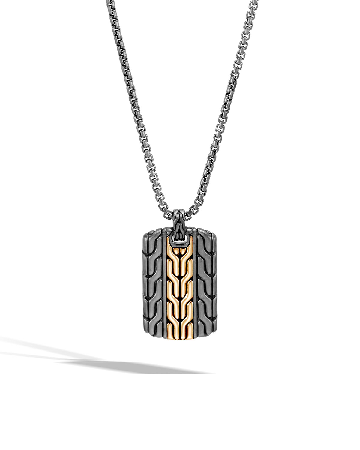 John Hardy Men S Classic Chain Dog Tag Necklace With