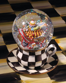 "MacKenzie-Childs ""My Cup of Tea"" Snowglobe"