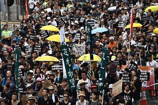 Image result for hong kong, protest, october 1, 2017, photos