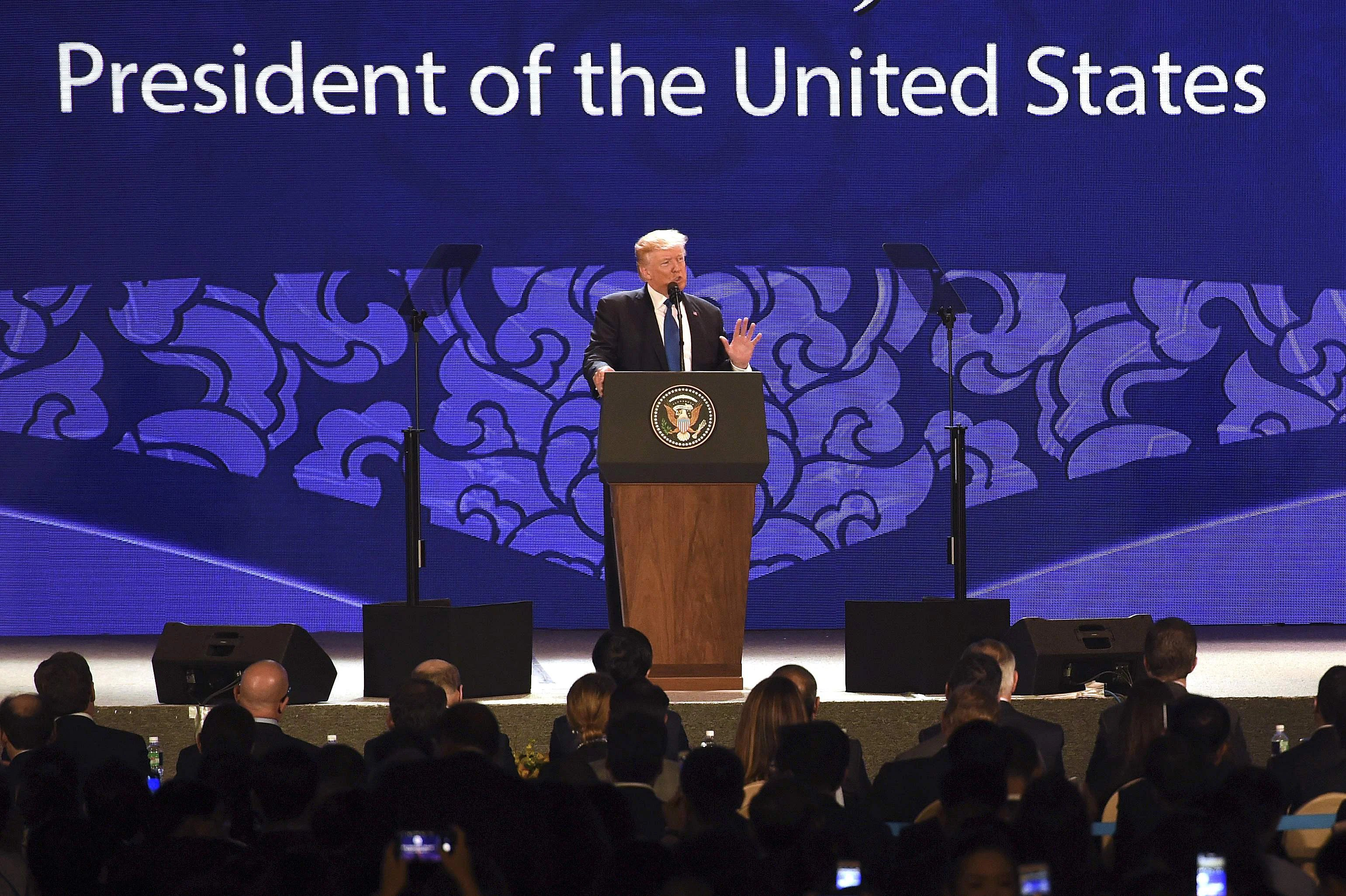 Image result for President Trump at APEC Danang