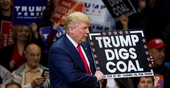 Trump caps off a long day by letting coal companies dump waste into streams.