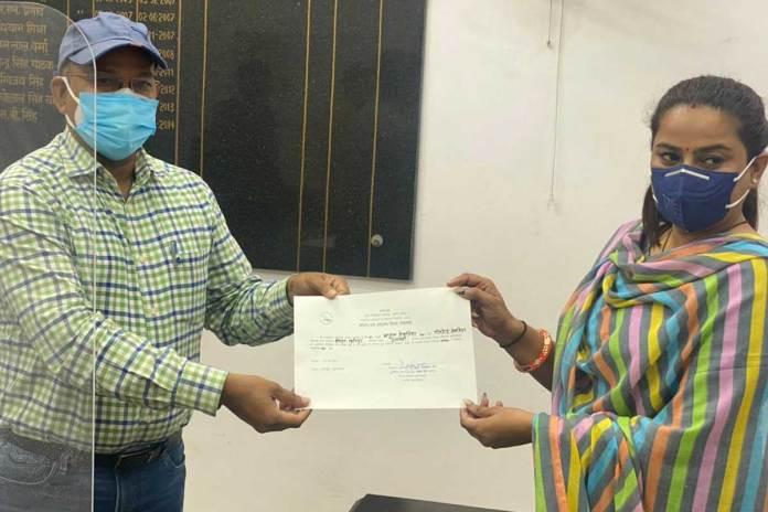 बीजेपी ने डॉ एंडुल तेवतिया को जीता जिला पंचायत सदस्य का चुनाव