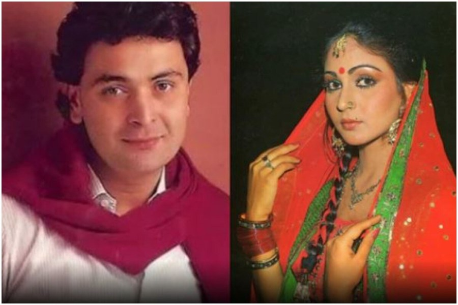 Rishi Kapoor and Rati Agnihotri worked together in many films (file photo)
