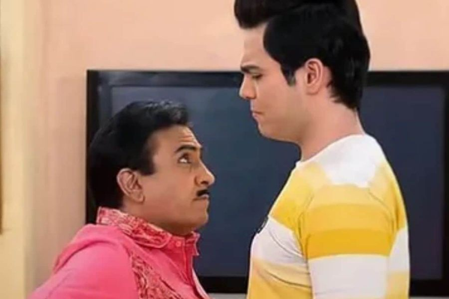 Dilip Joshi-Raj plays Jethalal-Tappu in the Anadkat show.  Photo courtesy- Video Grab