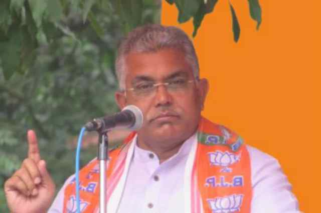 File photo of Bengal BJP president DIlip Ghosh.