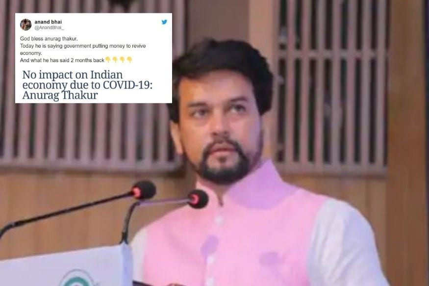 Twitter Reminds Anurag Thakur of When He Said Covid-19 Won't Impact Indian Economy