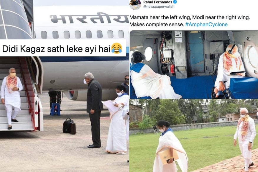 Modi-Mamata memes have been flooding the internet since the PM's visit to West Bengal to survey Amphan cyclone damage | Image credit: Twitter