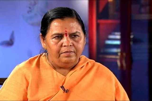 भाजपा नेता उमा भारती की फाइल फोटो