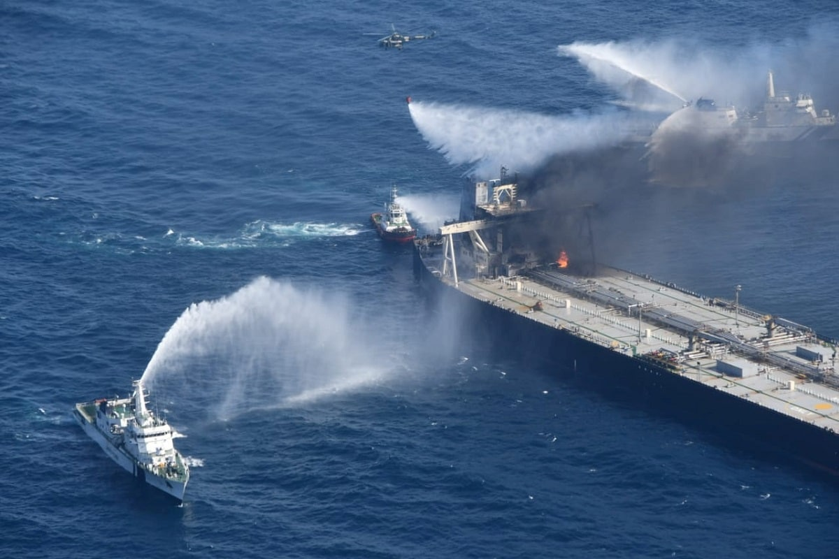 Oil Tanker That Caught Fire off Sri Lankan Coast to Pay .8 Million