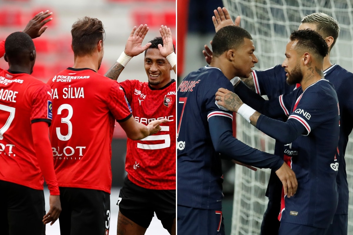 Rennes (L) and PSG (Photo Credit: Reuters)